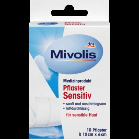 Mivolis Mivolis Pleisters Sensitive 10 cm x 6 cm 10 stuks