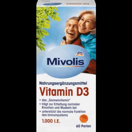 Mivolis Mivolis Vitamine D3 Parels 60 stuks