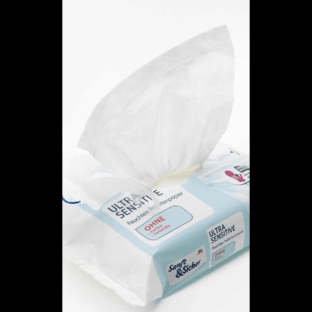 Sanft&Sicher Sanft&Sicher Vochtig Toiletpapier Ultra Sensitive 50 stuks