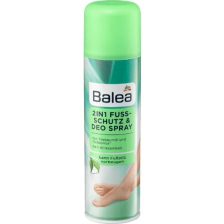 Balea Balea 2in1 Voetbescherming en Deodorant Spray 200 ml