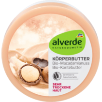 alverde Body Butter Macadamia Nuts Shea Butter