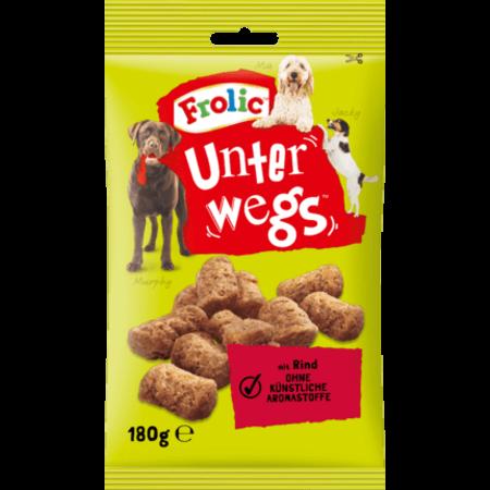 Frolic Snack voor Onderweg voor Volwassen Honden met Rundvlees 180 gram