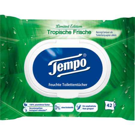 Tempo Tempo Vochtig Toiletpapier Tropisch Fris 42 stuks