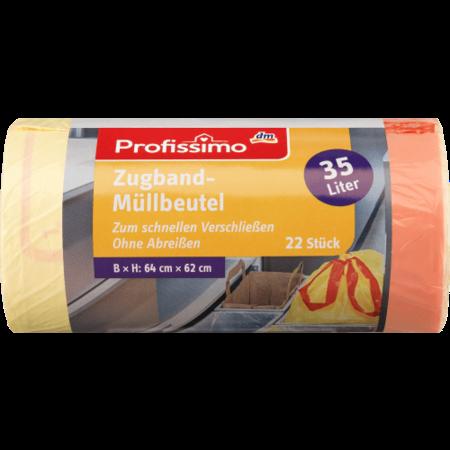 Profissimo Profissimo Vuilniszakken Extra Breed met Trekkoord 35 liter -  22 stuks
