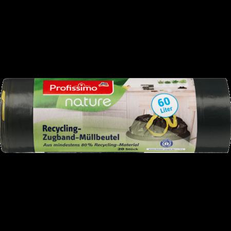 Profissimo Profissimo Nature Recycling Vuilniszakken met Trekkoord 60 liter - 20 stuks