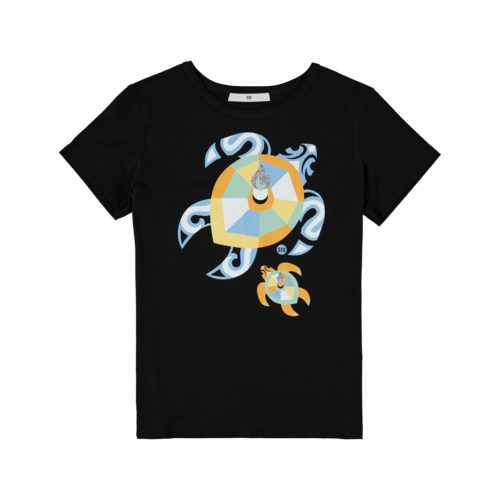 SIS by Spijkers en Spijkers black t-shirt with turtles