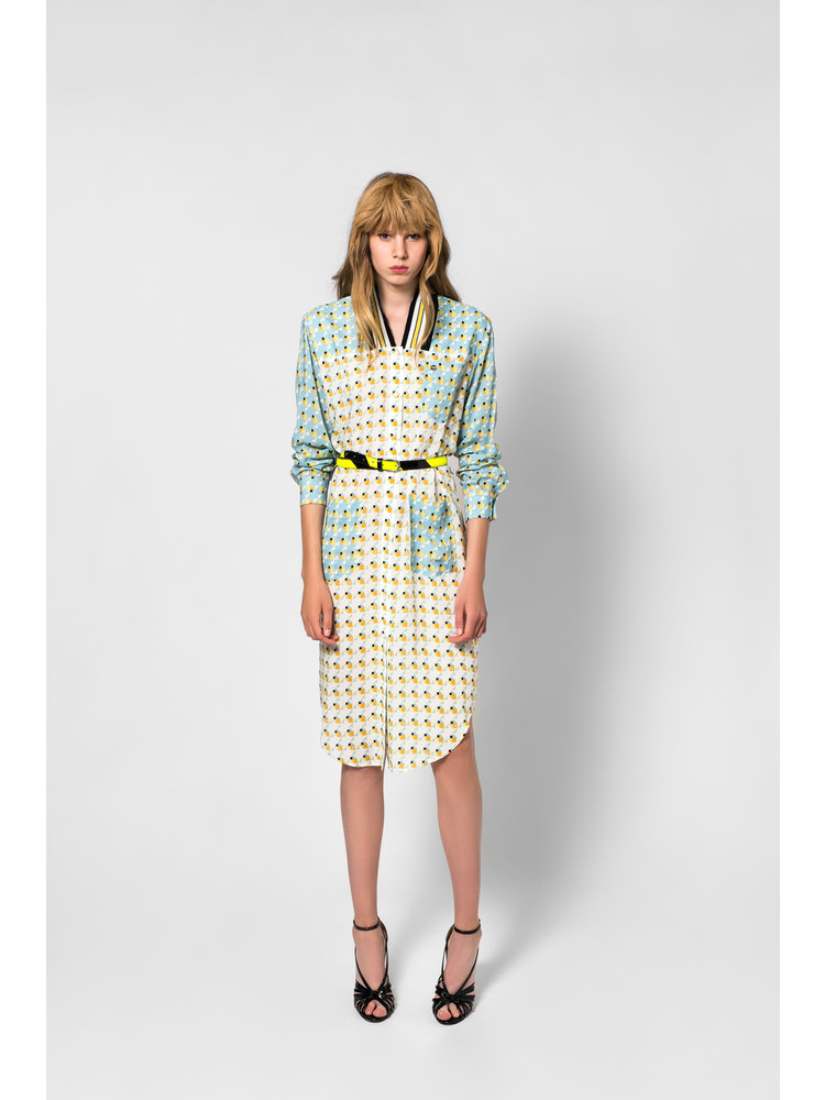 SIS by Spijkers en Spijkers dress with print and long sleeve