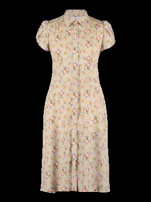 SIS by Spijkers en Spijkers fitted summer dress with print en short sleeve