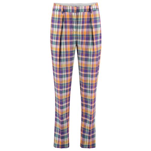checkered pleated trousers