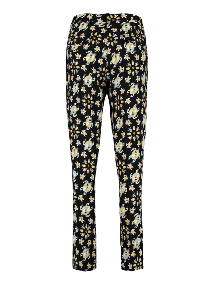 pleated trousers with print