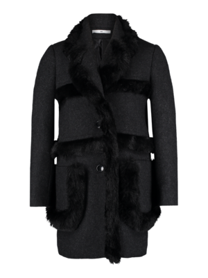 AW1920 412-X Fur Tape Coat
