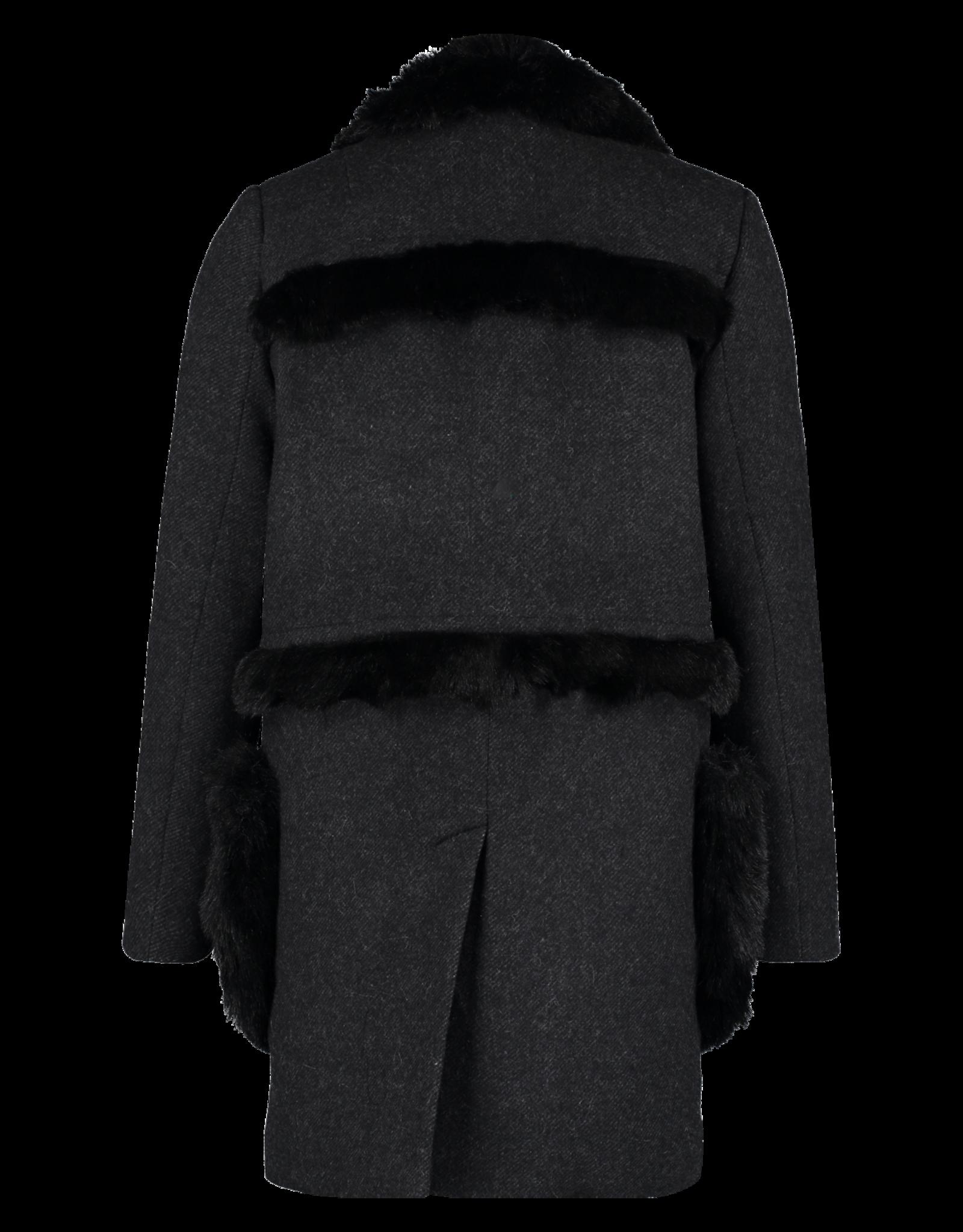 AW1920 412-X Fur Tape Coat