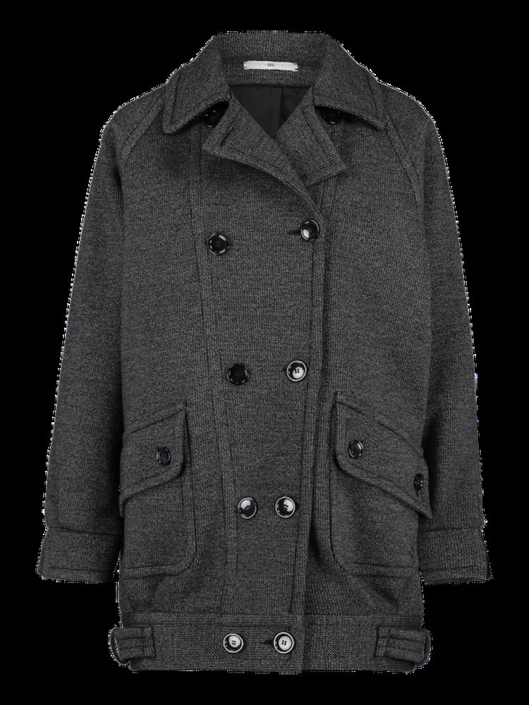 oversized neoprene jacket