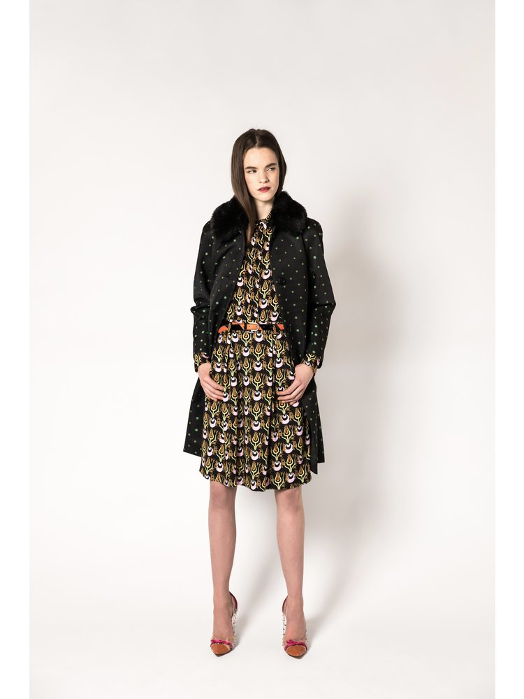 jacket with woven flower