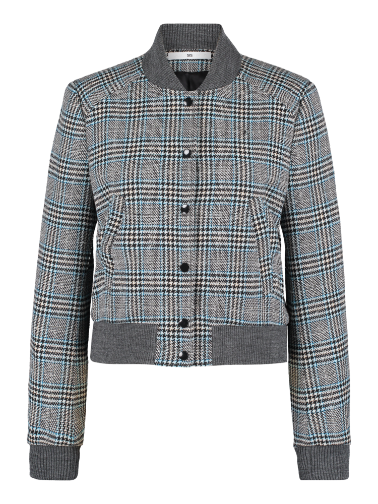 checkered wool bomber jacket