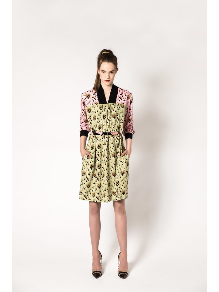 viscose midi dress with print