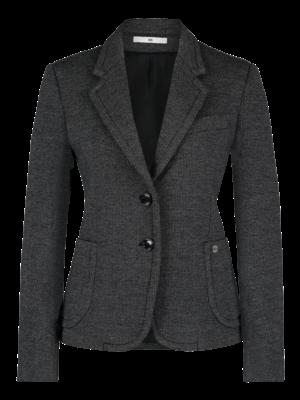 waisted blazer in neoprene