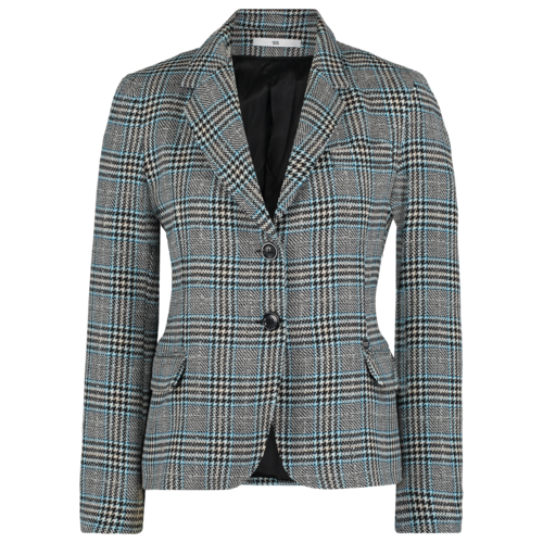 checkered wool blazer