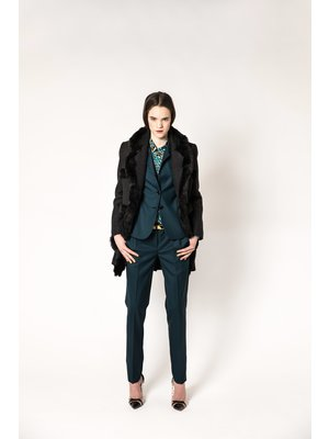 waisted blazer in BB check
