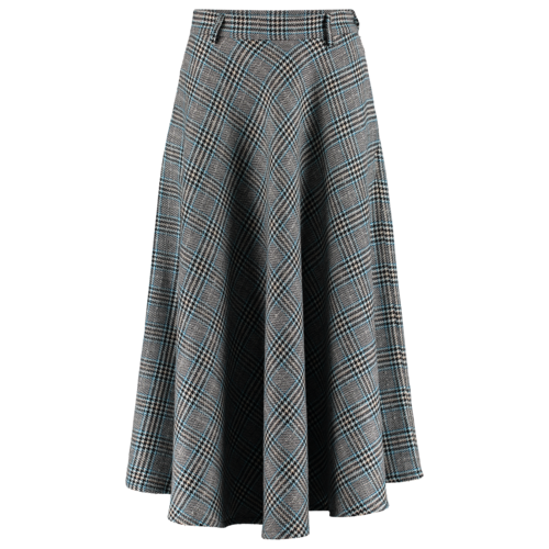 checkered circle skirt