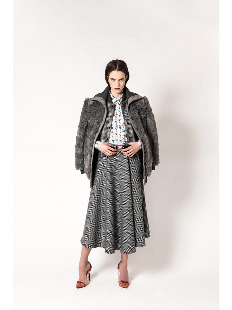 checkered circle skirt