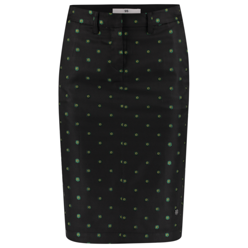 pencil skirt with woven flower