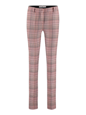 SIS by Spijkers en Spijkers wool flared trousers with checks