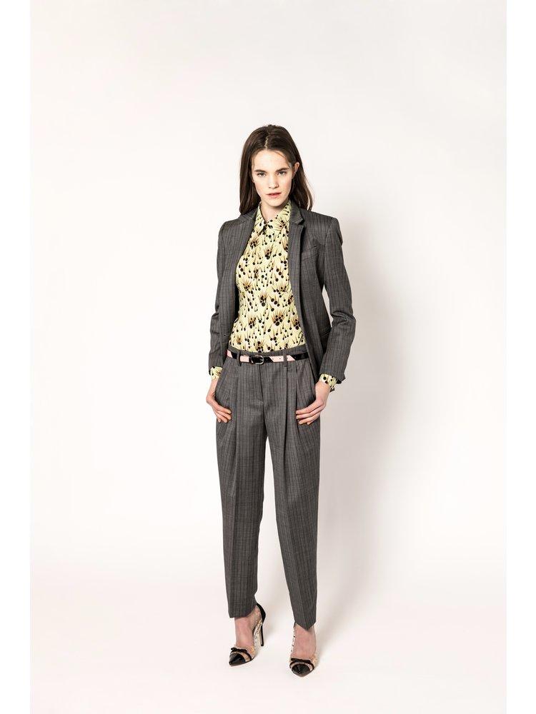 tailored blazer with stripe pattern