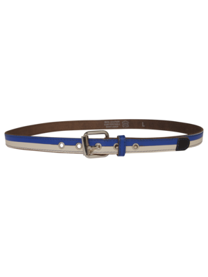 leather belt with horizontal stripes