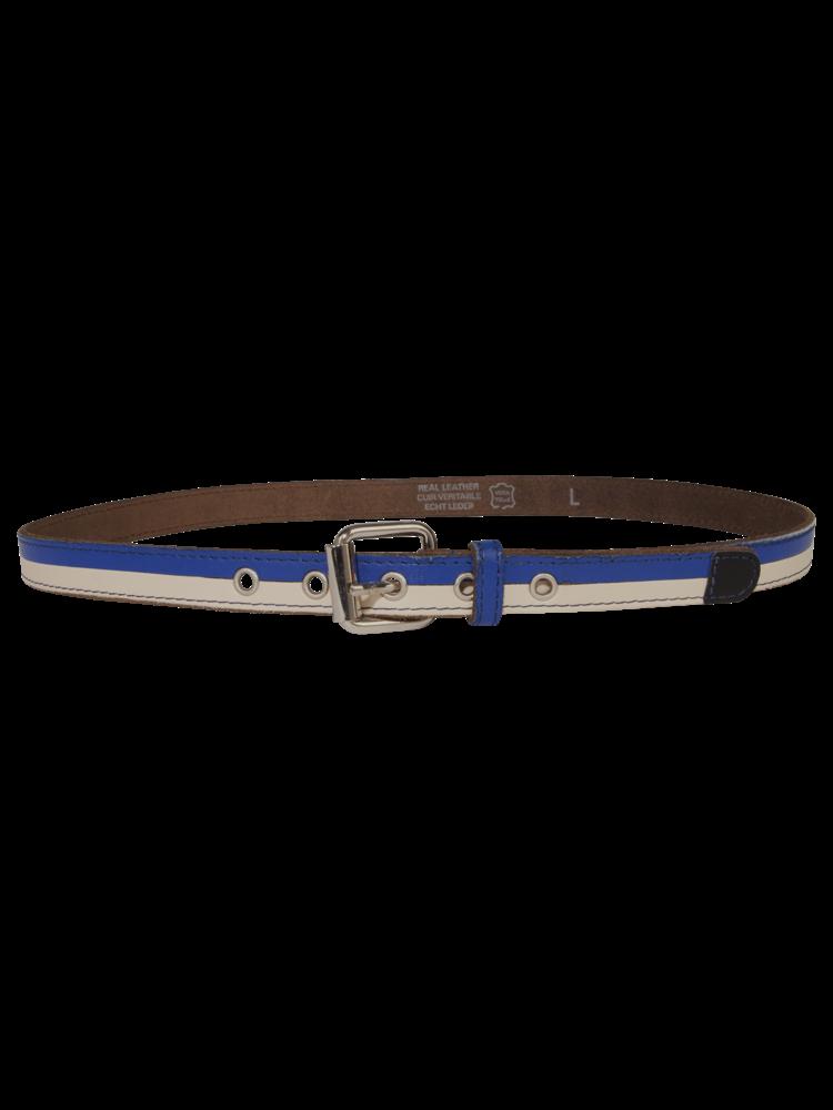 SIS by Spijkers en Spijkers leather belt with horizontal stripes