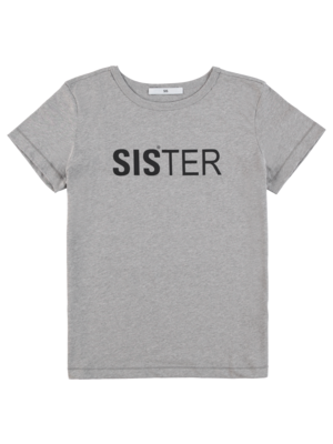 black t-shirt with sister
