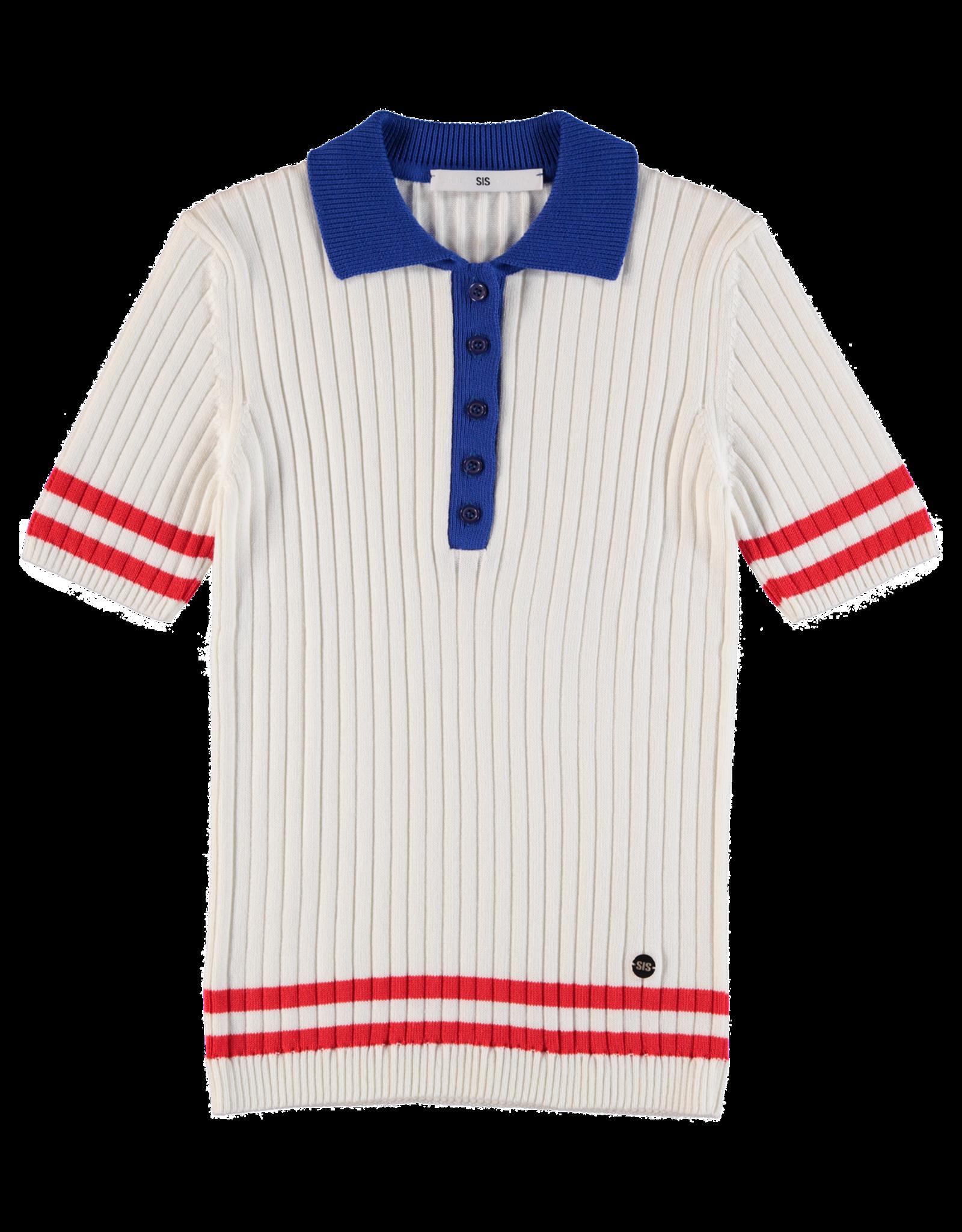 AW1819-120 Polo Knit Top