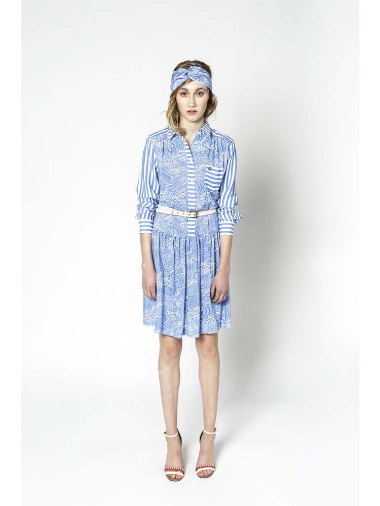 blouse dress with print