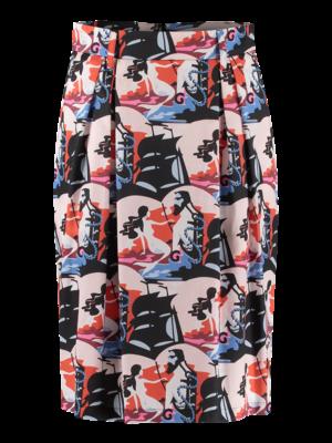 SIS by Spijkers en Spijkers waist skirt with print