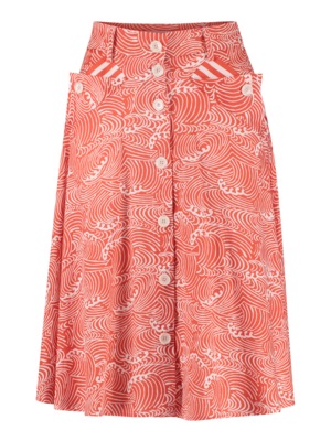 button-down skirt with square pocket