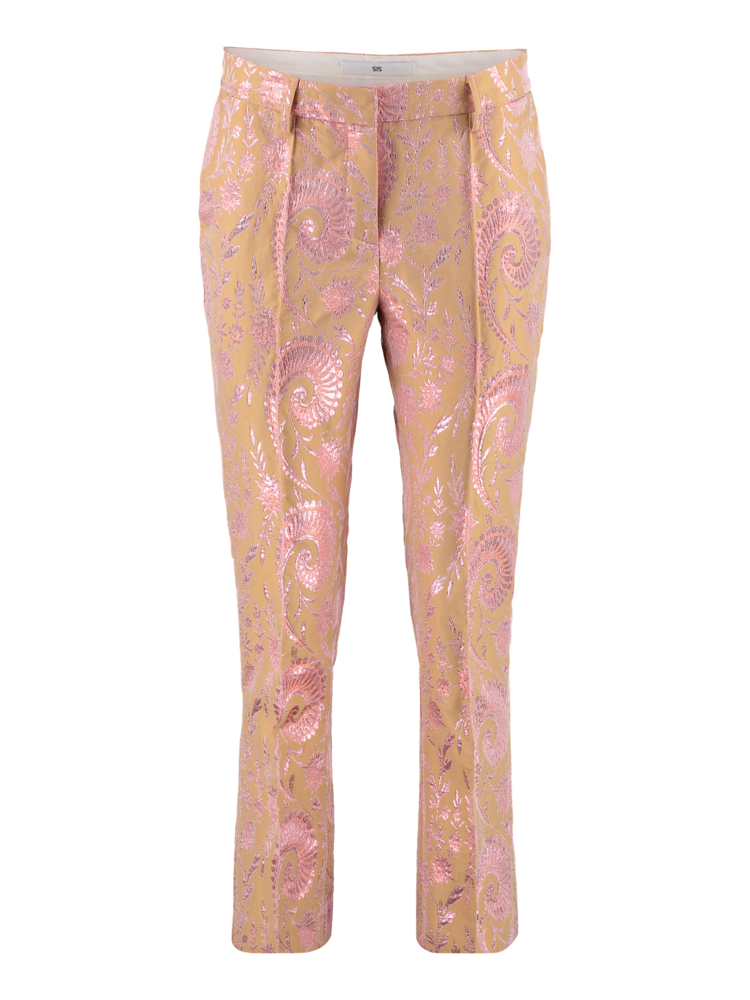 SIS by Spijkers en Spijkers pants with straight leg and shine