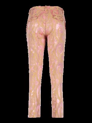 pants with straight leg and shine