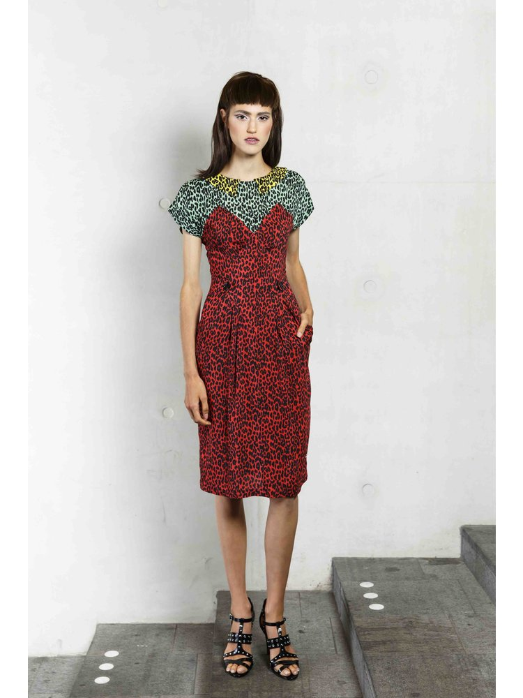 fitted summer dress with print