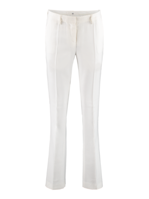 white flair pants