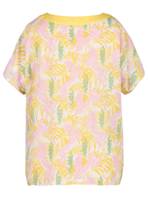 short sleeve top with print
