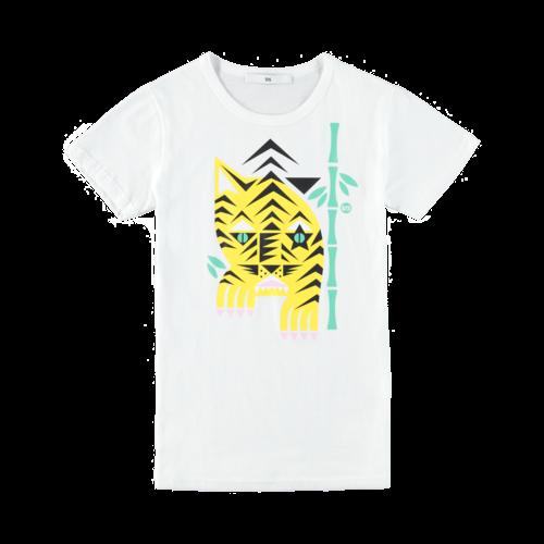 SIS by Spijkers en Spijkers tiger t-shirt white
