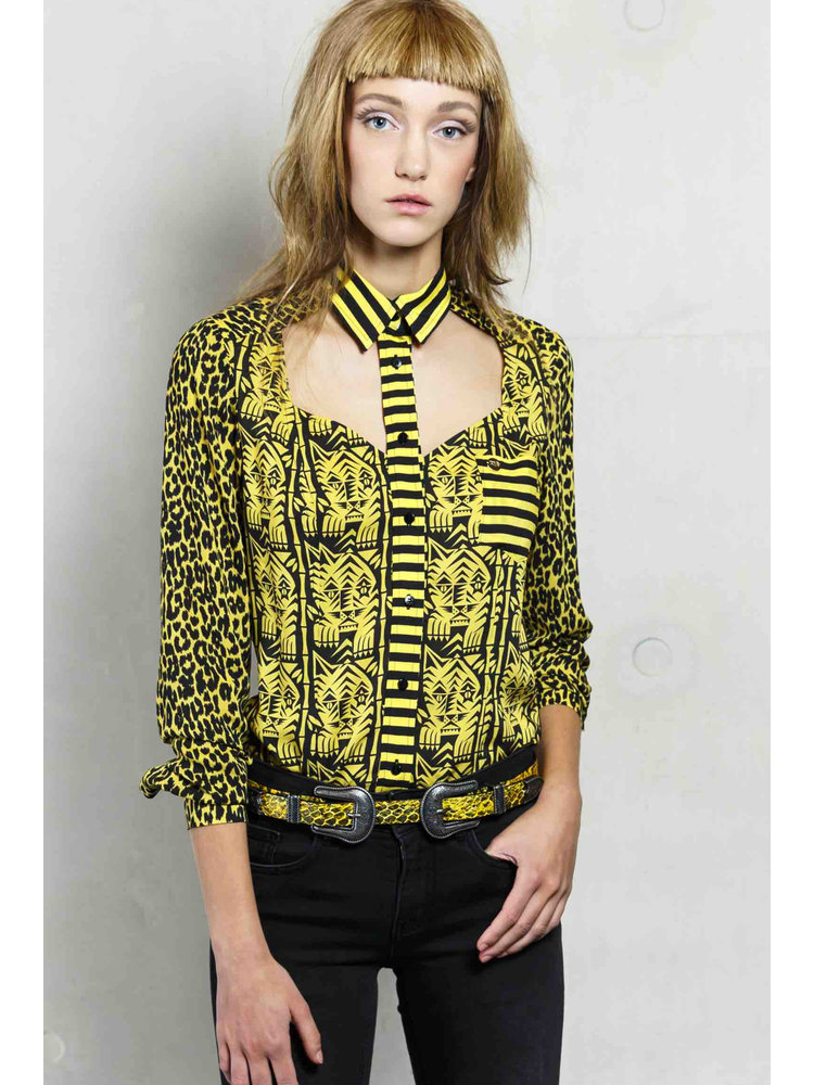 blouse with open front