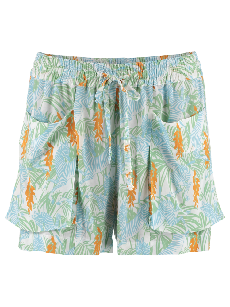 short trousers with print