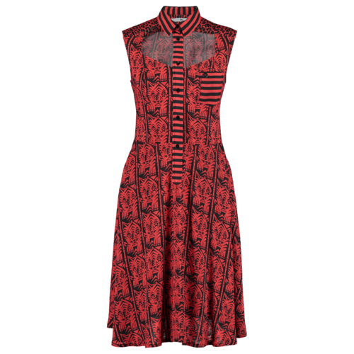 dress with open front