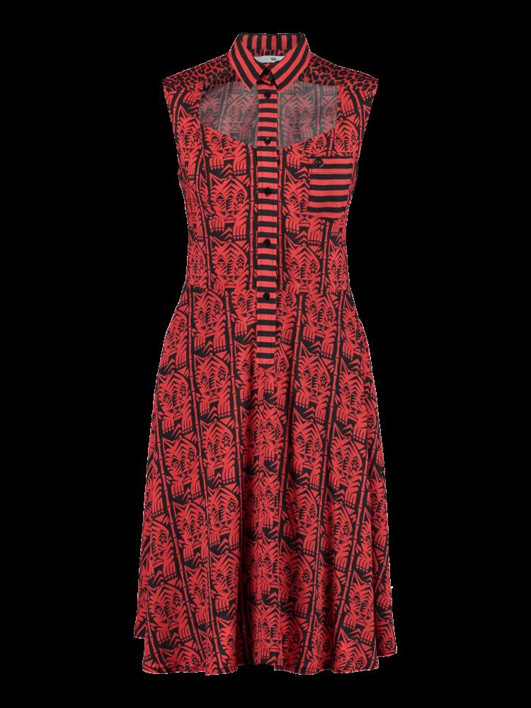 526-D Open Front Dress