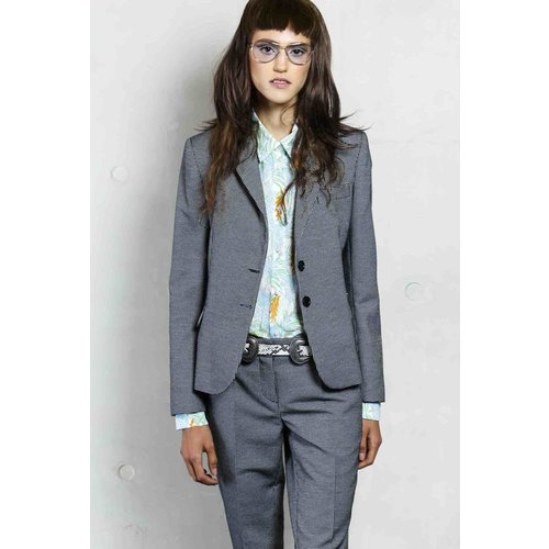 blazer in pequet check