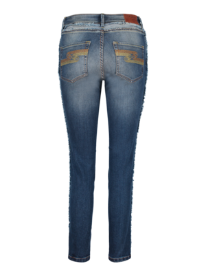 denim jeans with fringes