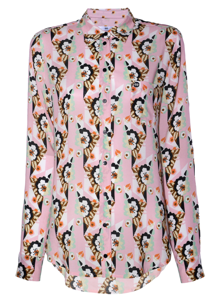 classic blouse with print
