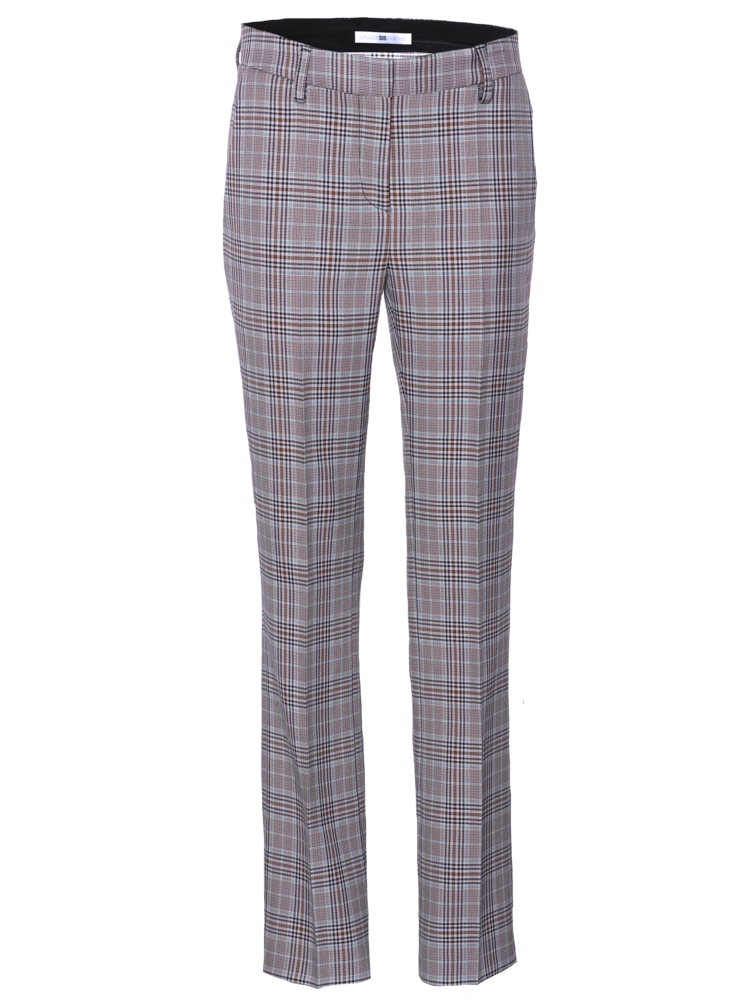 flair pants with a classic check
