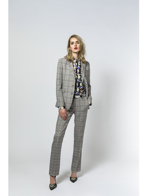 SIS by Spijkers en Spijkers flair pants with a classic check